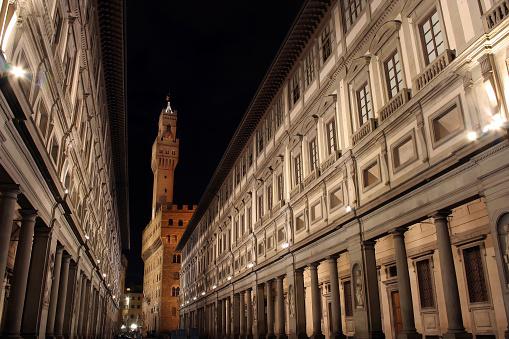 Florence - Uffizi gallery in morning