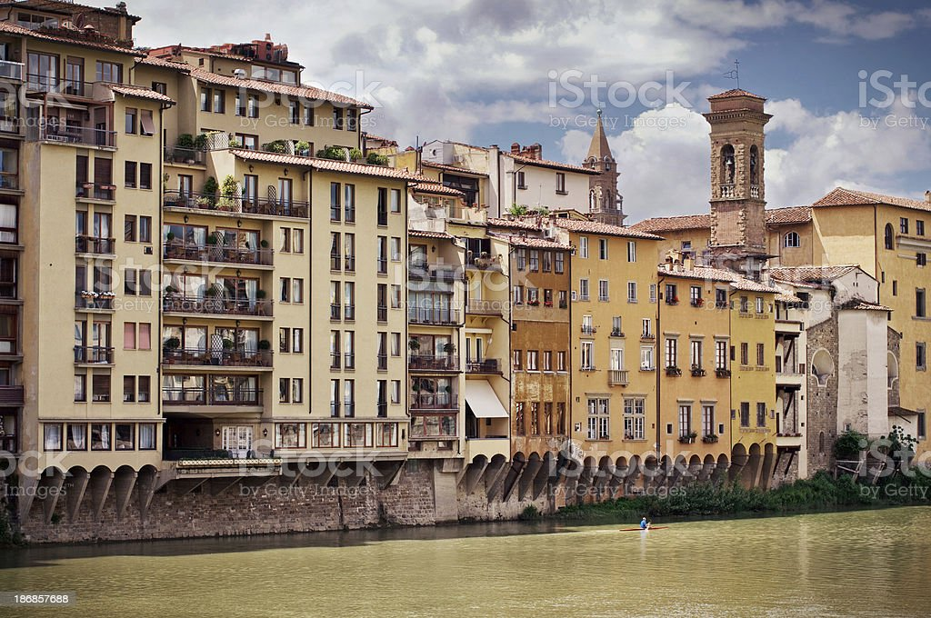 Florence, view from Ponte Vecchio. stock photo