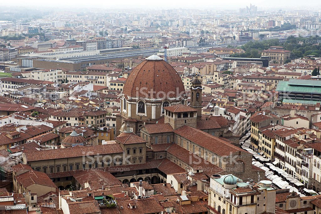 Florence view from the top of Duomo royalty-free stock photo