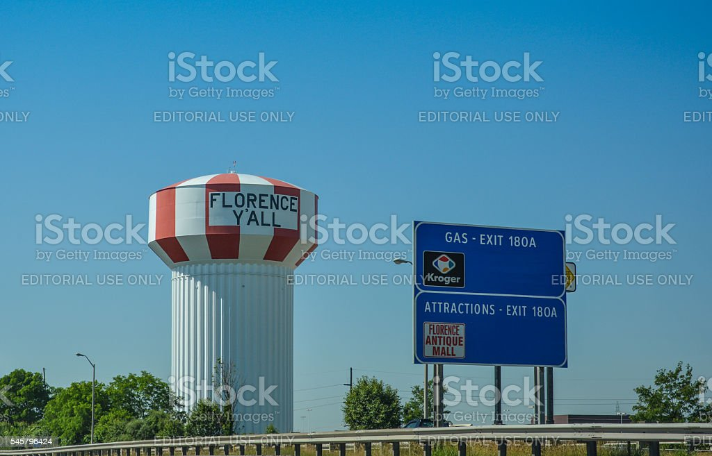 Florence Y'All Water Tower stock photo