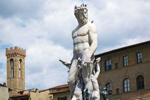 Florence-Hercules and the Centaur stock photo