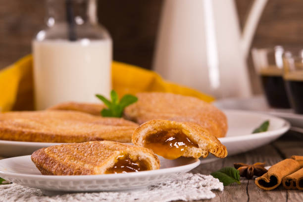 Florentines sweet puff pastries. stock photo