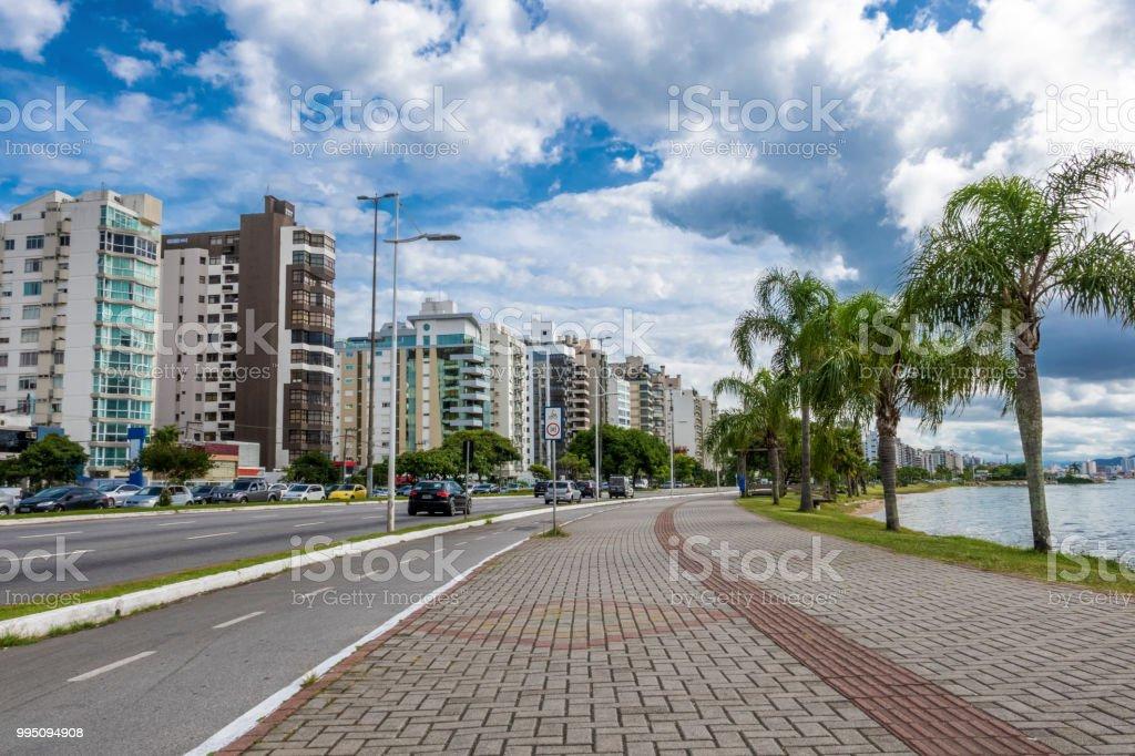 Florianopolis, capital of the State of Santa Catarina stock photo