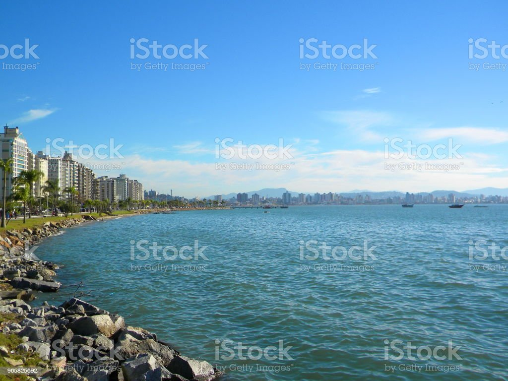 Florianópolis landschap - Royalty-free Beschrijvende kleur Stockfoto