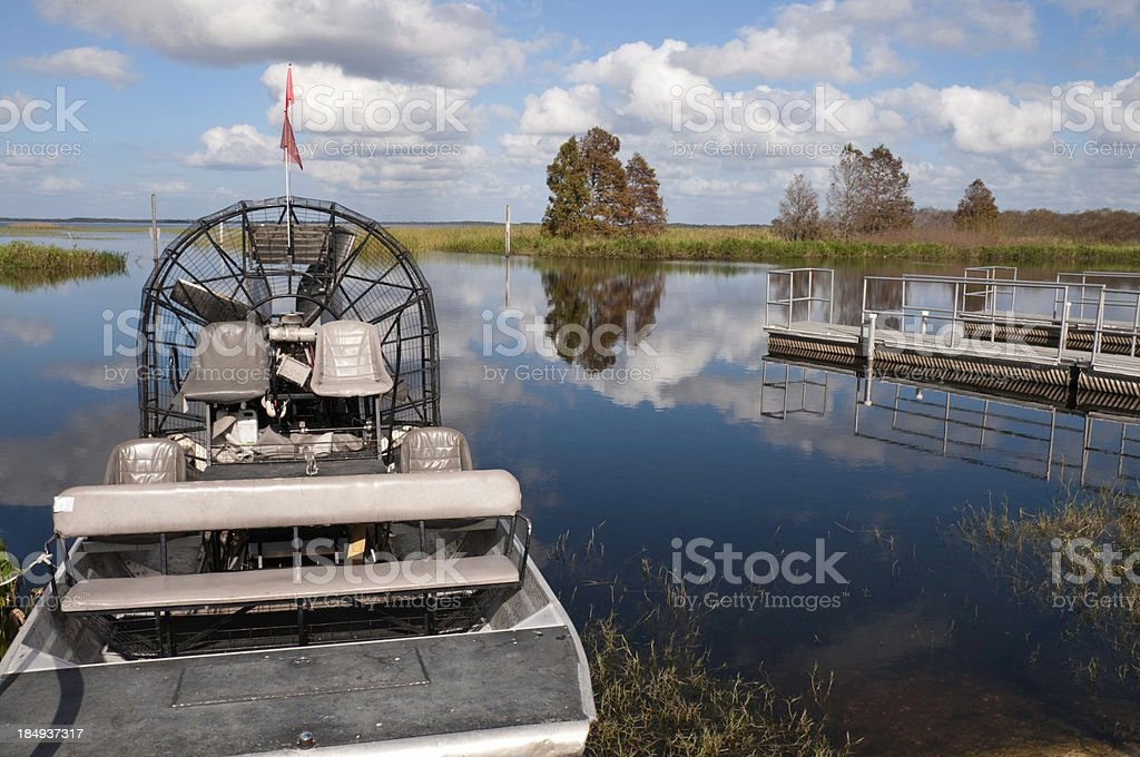Florida Airboat stock photo