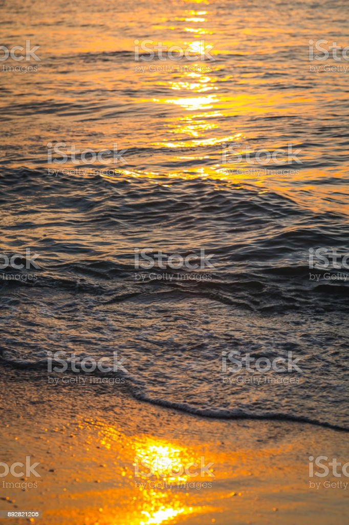 Florida beach and sand at dusk stock photo