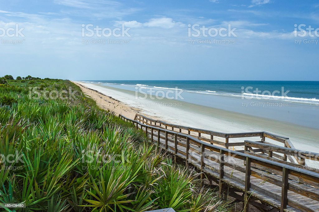Florida Beach at Canaveral National Seashore stock photo