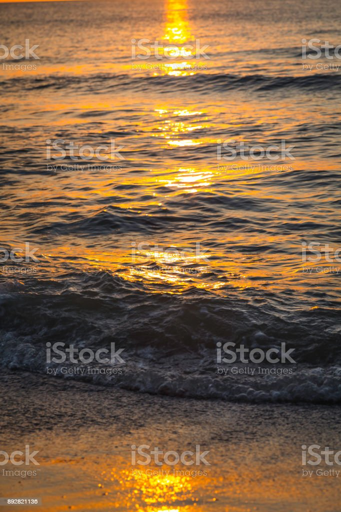 Florida beach at dusk stock photo