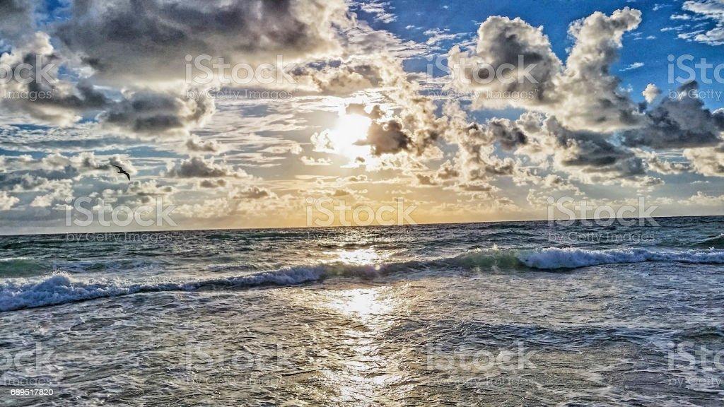 Florida Beach -Atlantic Ocean stock photo