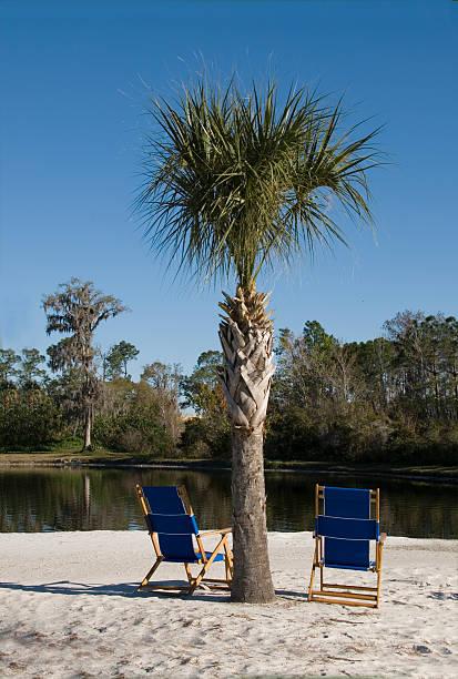 Florida Beach Chairs stock photo