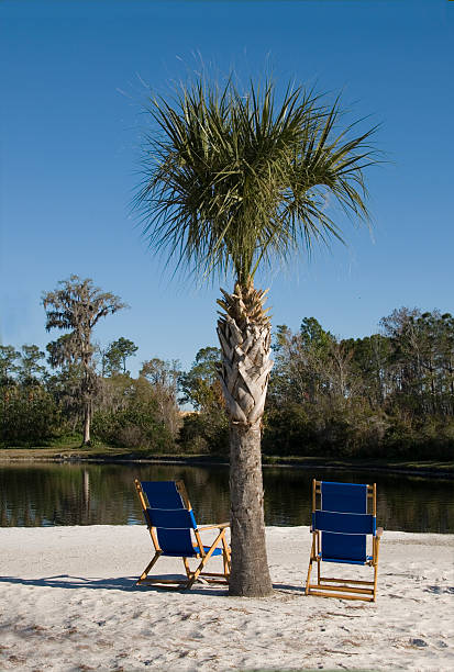 Florida Beach Chairs stock photo