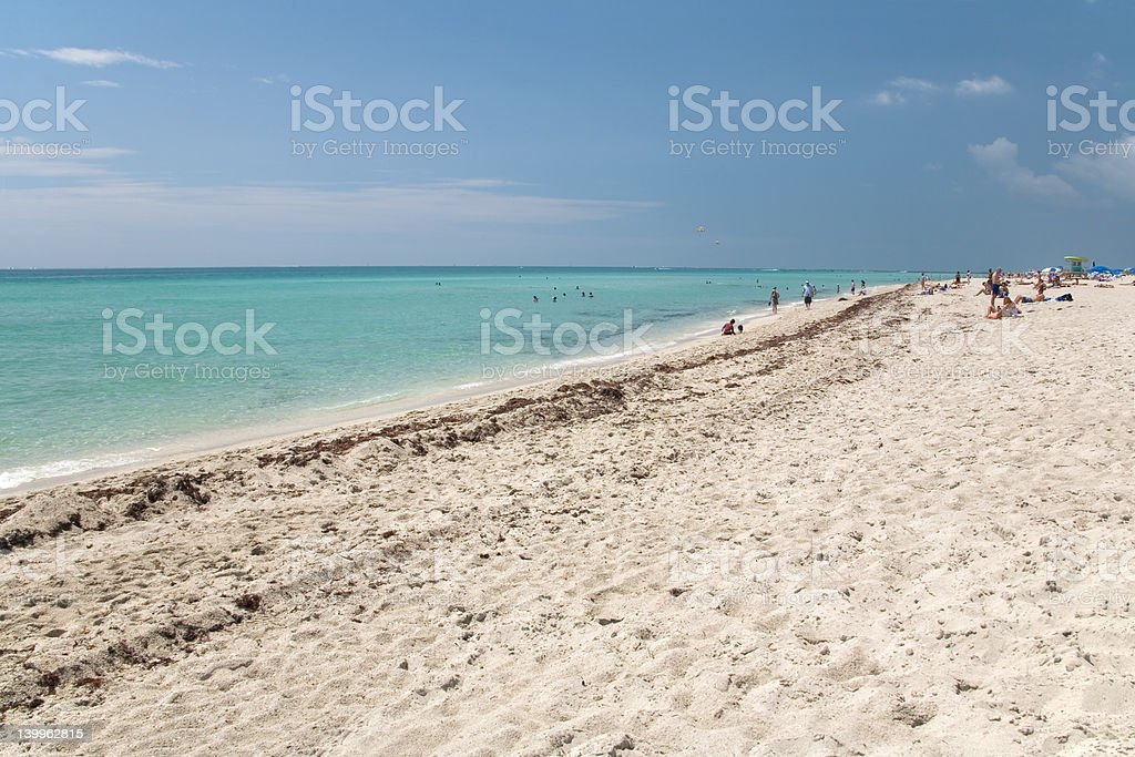 florida beach ocean royalty-free stock photo