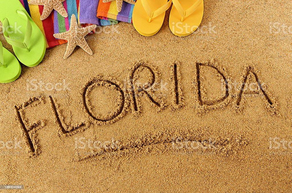 Florida beach scene royalty-free stock photo