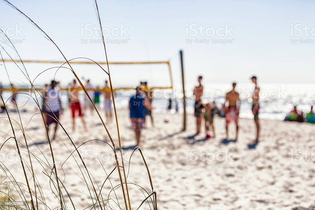 Florida Beach Volleyball Game Anonymous Players stock photo