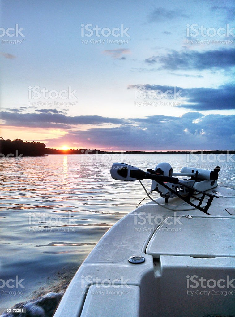 Florida Boating in Ten Thousand Islands stock photo