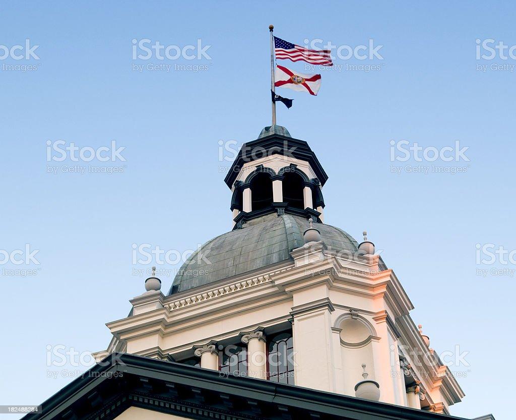 Florida Capitol Building detail stock photo