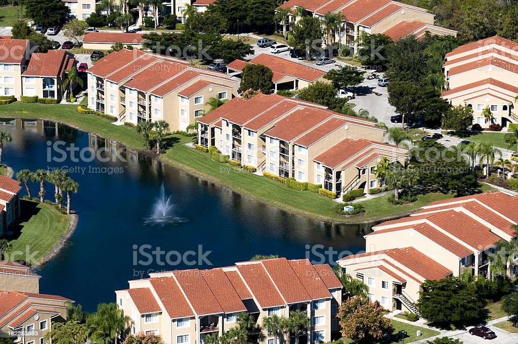 Florida Condos royalty-free stock photo