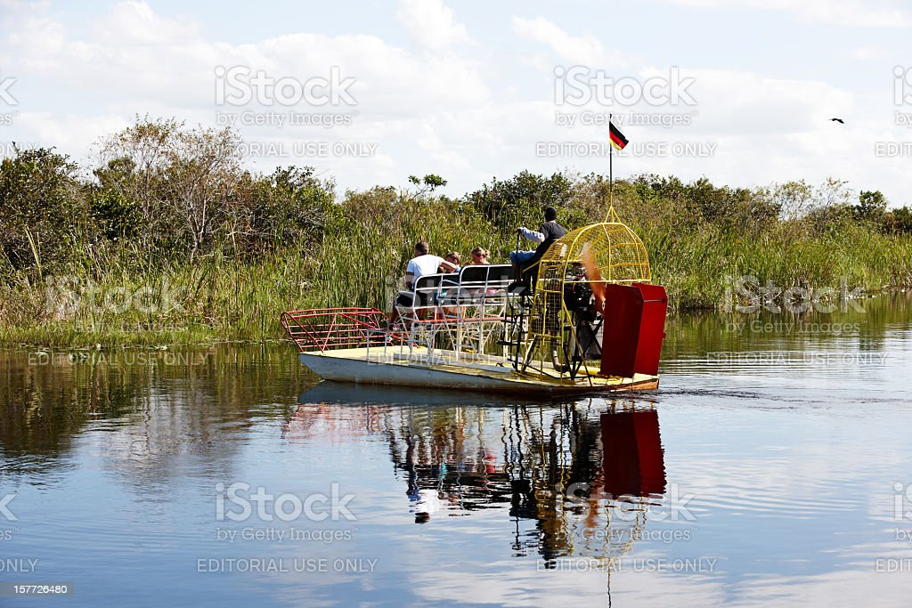 Florida Everglades airboat rides stock photo