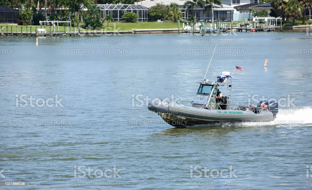 Florida Fish and Wildlife officer stock photo