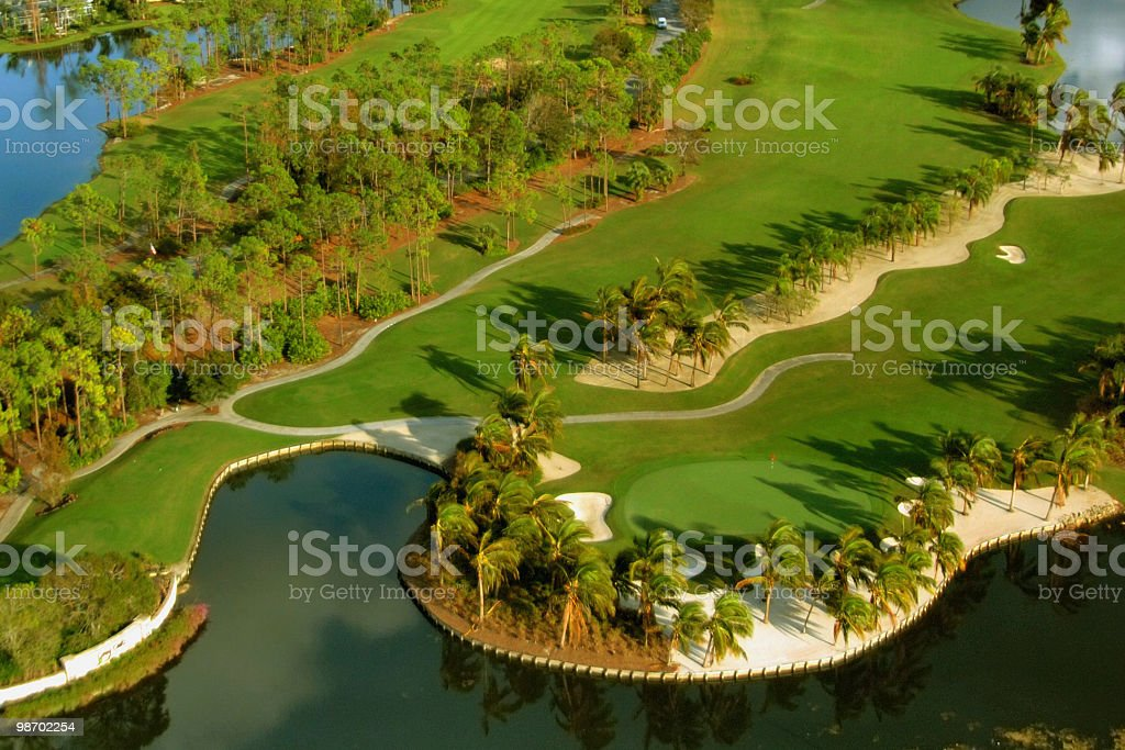 Florida golf aerial royalty-free stock photo