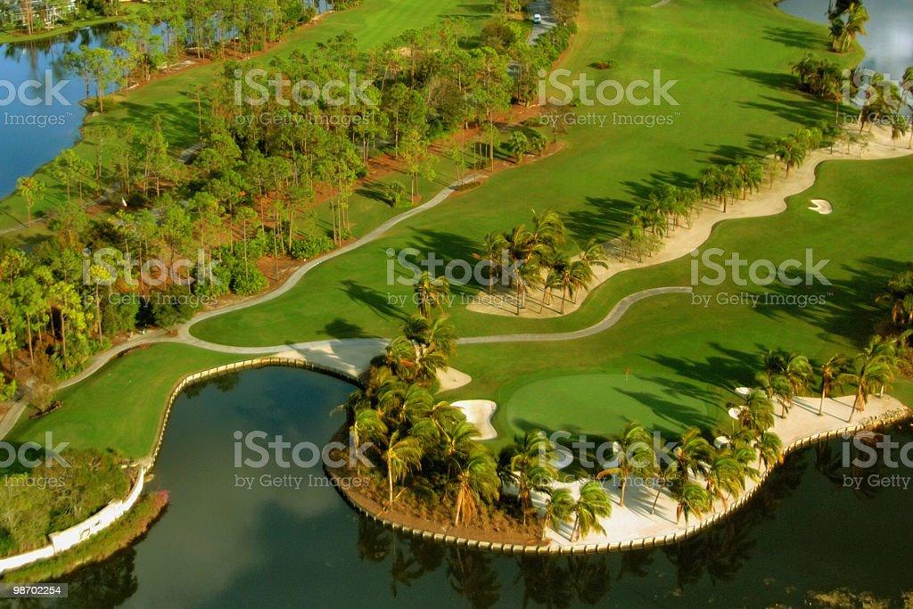 Florida golf aerial stock photo