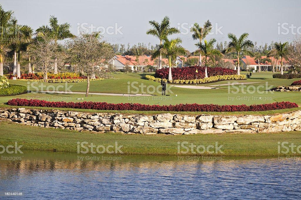Florida Golf Course stock photo