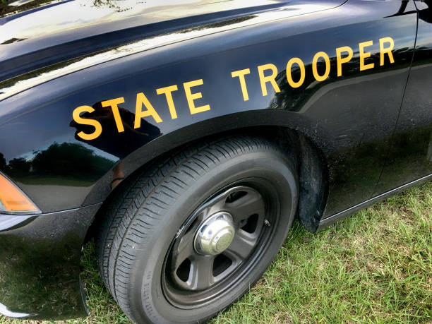 FHP - Florida Highway Patrol State Trooper vehicle in Port Charlotte FL, USA FHP - Florida Highway Patrol State Trooper vehicle in Port Charlotte FL, USA trooper stock pictures, royalty-free photos & images