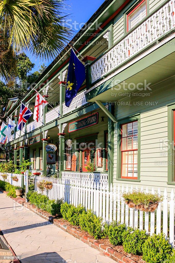 Florida House Inn on 3rd Street, Fernandina Beach City, Florida stock photo