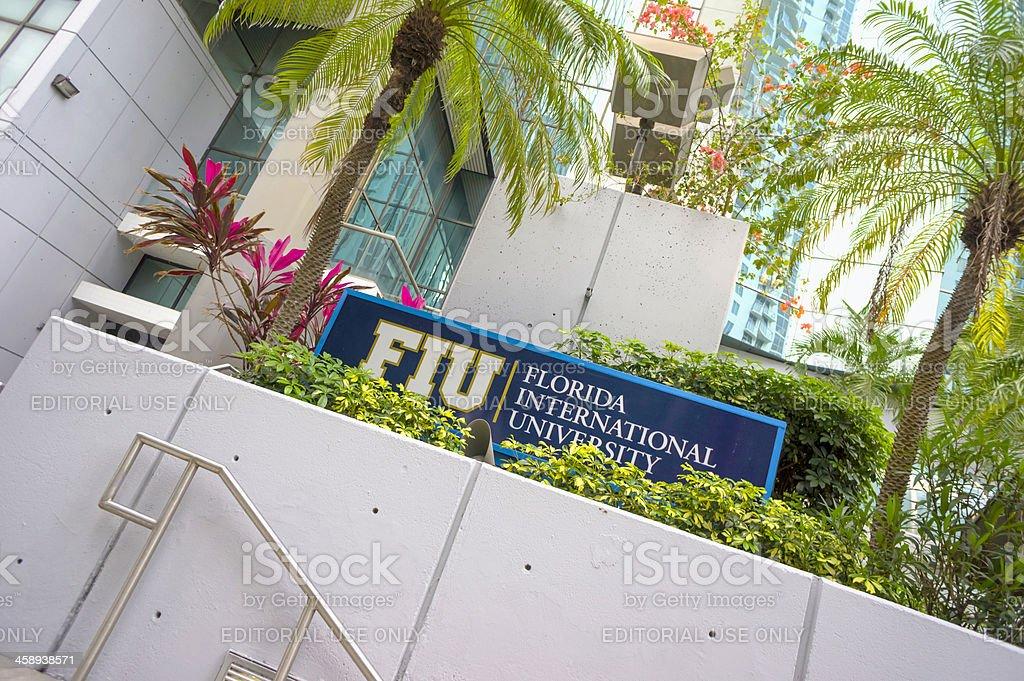 Florida International University (FIU) sign royalty-free stock photo