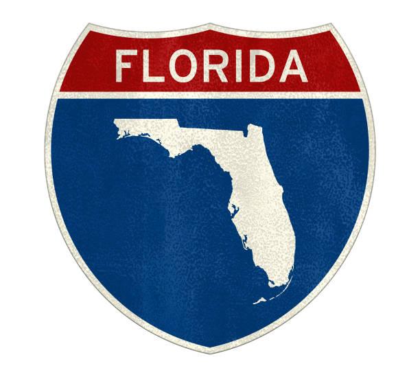 Interstate Florida Straße Zeichen Karte – Foto