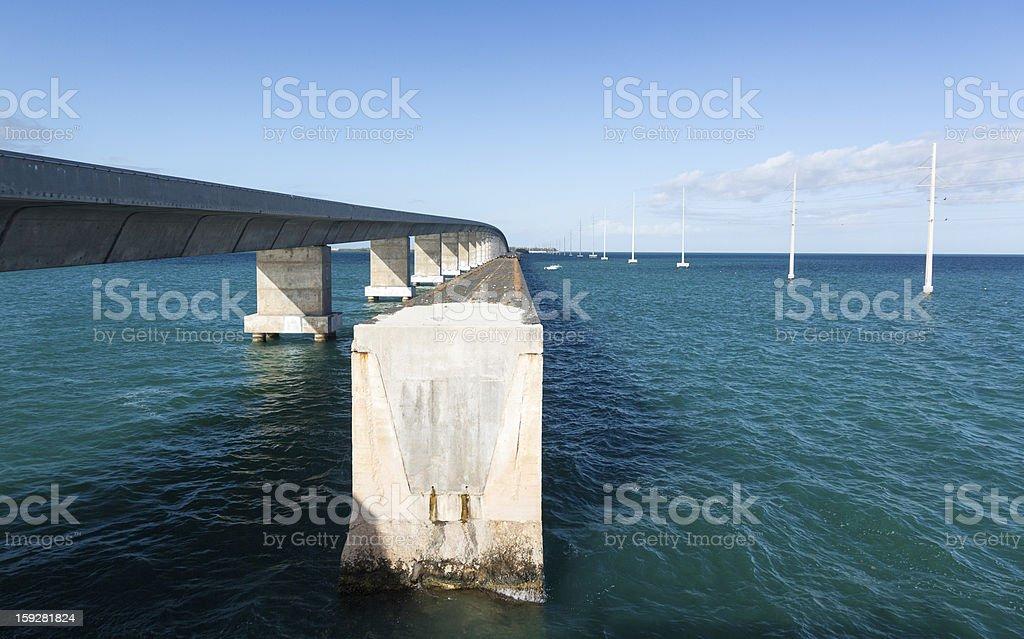 Florida Keys bridge and heritage trail royalty-free stock photo