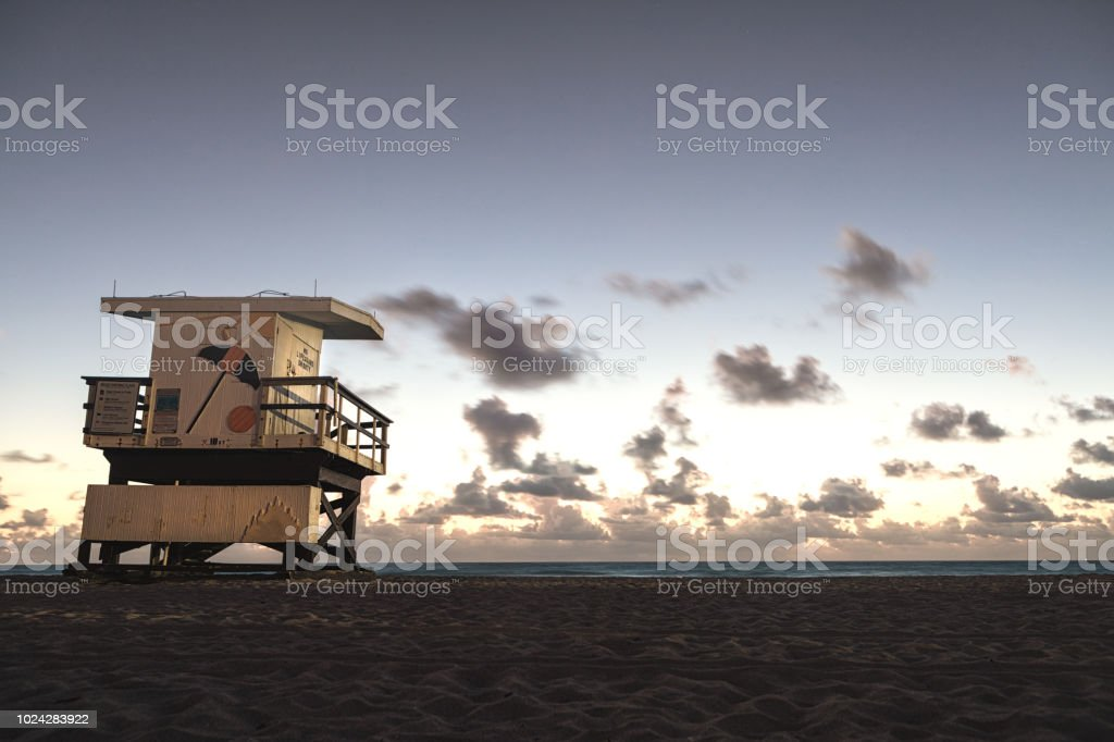Florida lifeguard post stock photo
