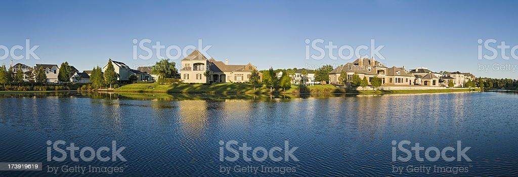 Florida luxury lakeside living stock photo