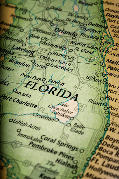florida map - charleston sc map stock photos and pictures