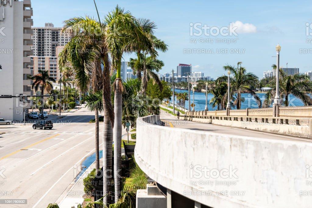 Florida Miami beach Broward county with resort buildings cityscape...