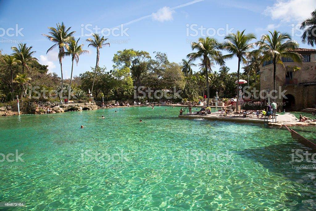 usa florida miami coral gables venetian pool stock photo