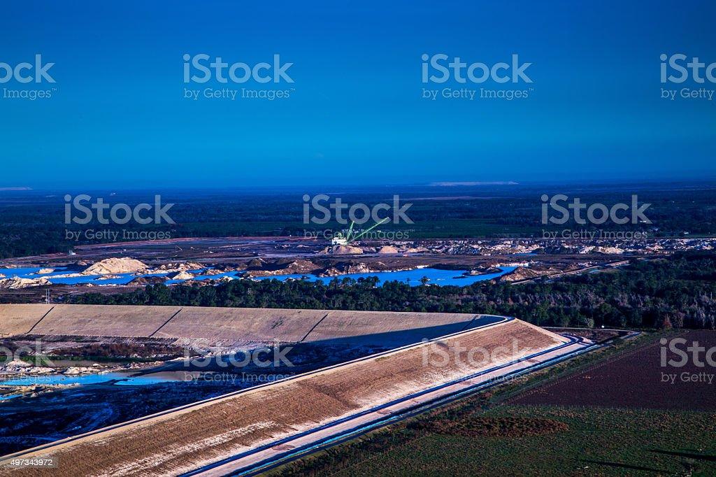 Florida Phosphate Mines stock photo