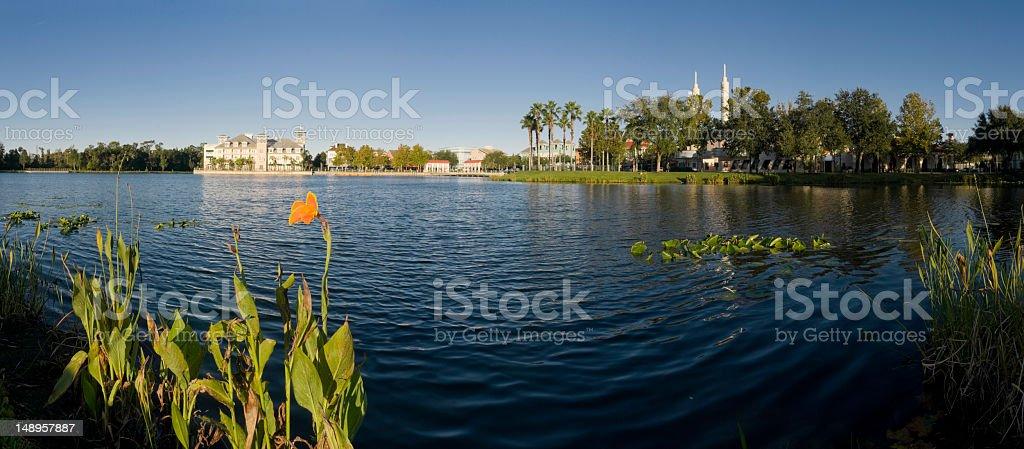 Florida picturesque lakeside town stock photo