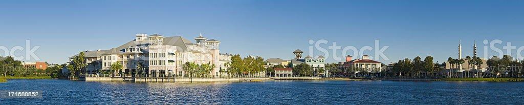 Florida picturesque town sunrise panorama stock photo