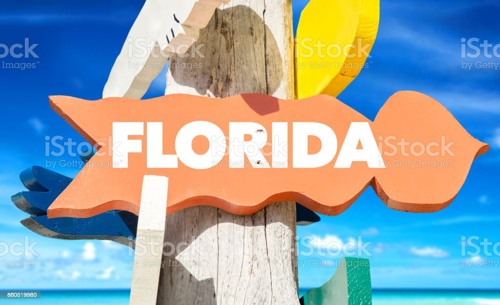 Florida sign stock photo