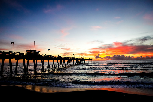 Florida Skies Over Venice Pier Stock Photo Download Image Now Istock