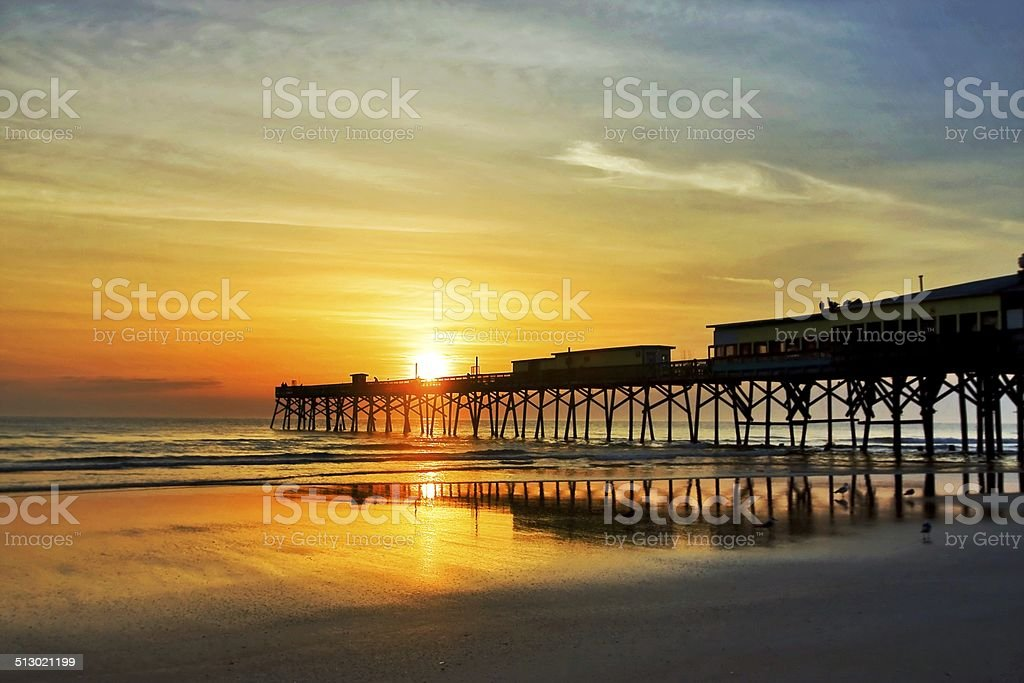 Florida sunrise stock photo