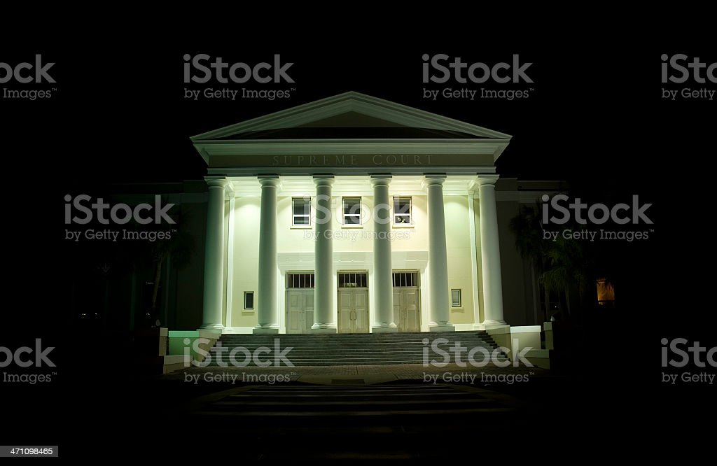 Florida Supreme Court at Night royalty-free stock photo