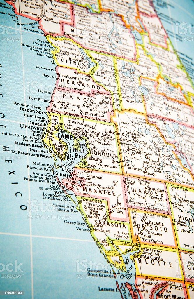 Karte Tampa Florida Stockfoto und mehr Bilder von ...