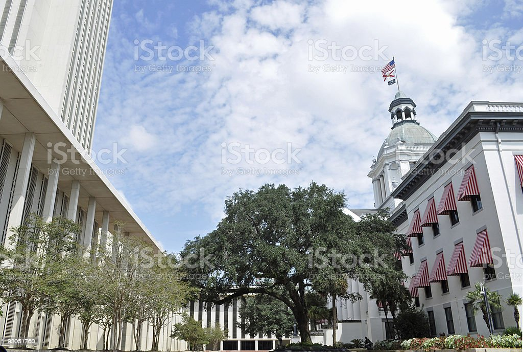 Florida's Old and New Capitol Buildings stock photo