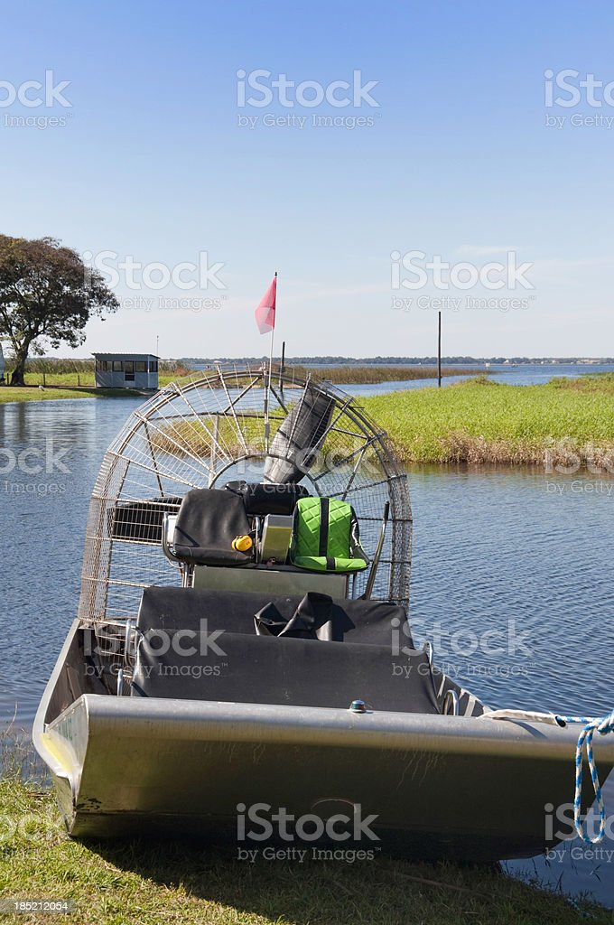 Floridian AIrboat stock photo