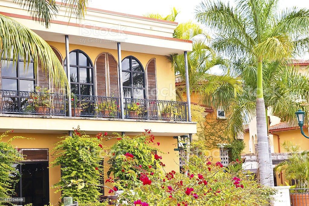 Floridian Balcony stock photo