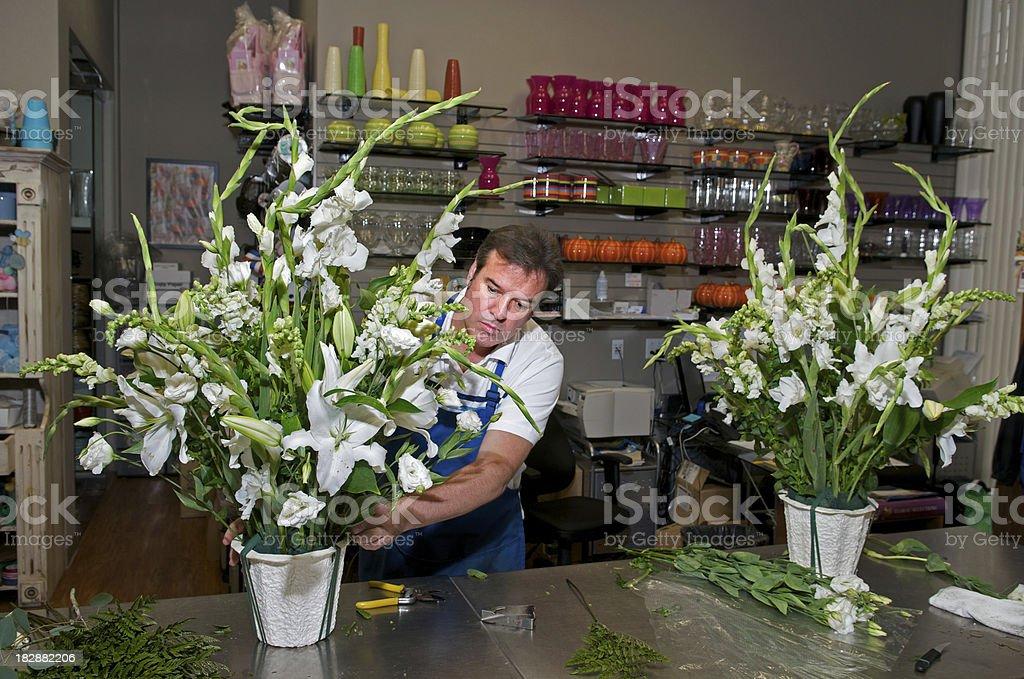 Florist at Work royalty-free stock photo