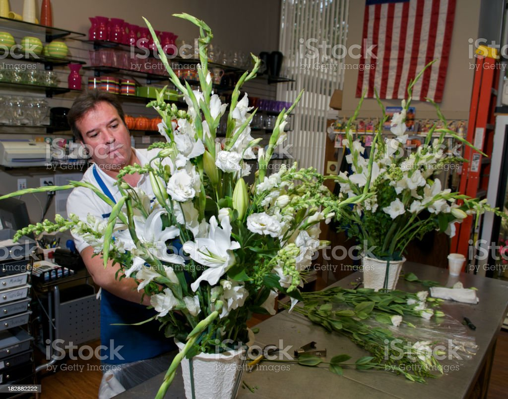 Florist at Work royalty-free stock photo