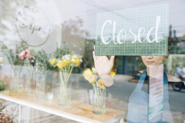 Florist schließt slyer kleinen Laden – Foto